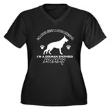 German Shepherd dog breed designs Women's Plus Siz