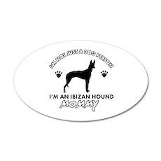 Ibizan Hound dog breed design 35x21 Oval Wall Deca