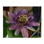 Passion Flower Throw Blanket