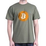 with bitcoin logo T-Shirt