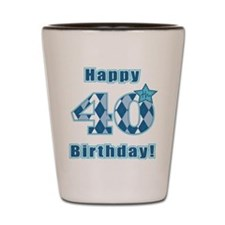 Happy 40th Birthday! Shot Glass