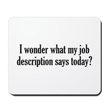 Job Description Mousepad