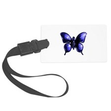 Purple Buttterfly Design Luggage Tag