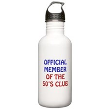 50th Birthday Official Member Water Bottle