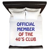 40th Birthday Official Member King Duvet