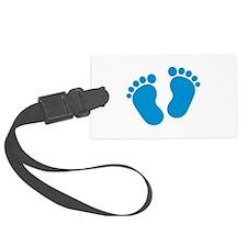 Blue baby feet Luggage Tag