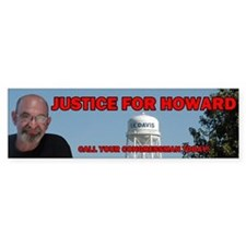 Justice for Howard Bumper Bumper Sticker