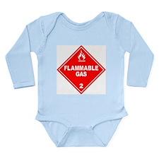 Flammable Gas Long Sleeve Infant Bodysuit