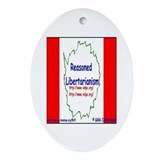 Reasoned Libertarian Revoluti Oval Ornament
