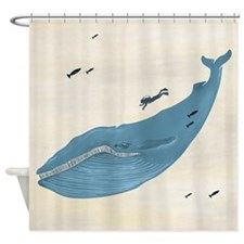 Blue Whale - Shower Curtain