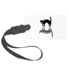 """Angry Cat """"I'm so mad!"""" Luggage Tag"""