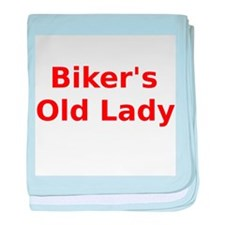 Bikers Old Lady baby blanket