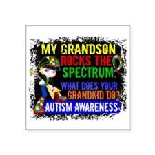 "Rocks Spectrum Autism Square Sticker 3"" x 3"""