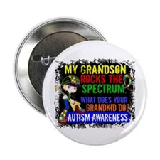 "Rocks Spectrum Autism 2.25"" Button (100 pack)"