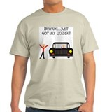 CAUTION NEW LICENSE Ash Grey T-Shirt