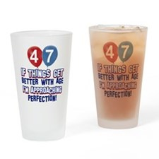 47 year old birthday designs Drinking Glass