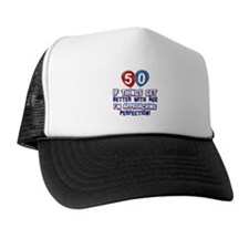 50 year old birthday designs Trucker Hat