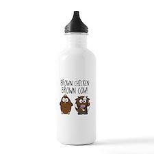 Cute Brown Chicken Brown Water Bottle