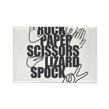 Rock Paper Scissors Lizard Spock Rectangle Magnet