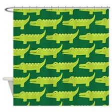 Crocodile Jungle Shower Curtain