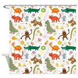 Jungle Animal Lover Shower Curtain