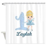 Princess 1st Birthday PERSONALIZED Shower Curtain
