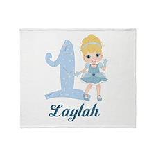 Princess 1st Birthday PERSONALIZED Throw Blanket