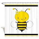 Dancing Honey Bee Shower Curtain
