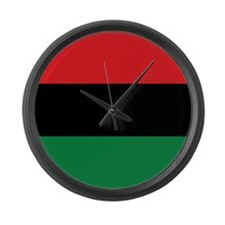 The Red, Black and Green Flag Large Wall Clock