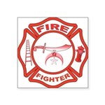Shrine Fire Fighter Rectangle Sticker