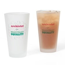 Archivist for Equality Drinking Glass