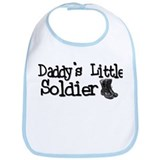 Daddy's Little Soldier Bib