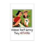 Women Networking Mini Poster Print