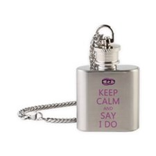 KEEP CALM WEDDING Flask Necklace