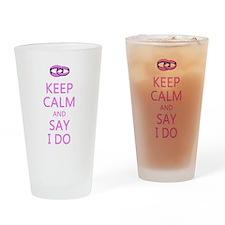 KEEP CALM WEDDING Drinking Glass