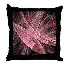 Flame Fractal Throw Pillow
