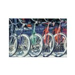 Bicycles Rectangle Magnet (100 pack)