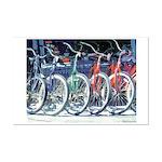 Bicycles Mini Poster Print