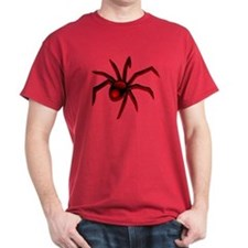 Black Widow Spider Red T-Shirt
