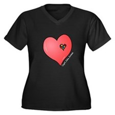 Autism is in my heart Women's Plus Size V-Neck Dar