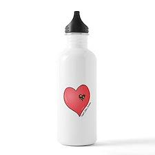 Autism is in my heart Water Bottle