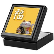 Japanese Fortune Cat Keepsake Box - Prosperity