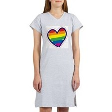 RAINBOW-LOVE-BACK.png Women's Nightshirt