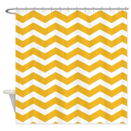 mustard yellow chevron shower curtain by inspirationzstore