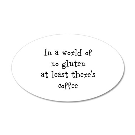 World of no gluten 35x21 Oval Wall Decal