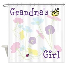 Flower Bees and Lady Bug Shower Curtain