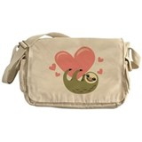 Sloth Canvas Messenger Bag