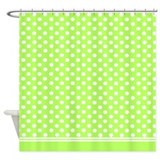 Lime green polka dots Shower Curtain