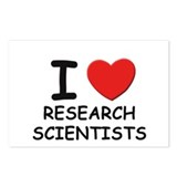I love researchers Postcards (Package of 8)