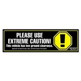 Extreme Caution Bumper Sticker (black)